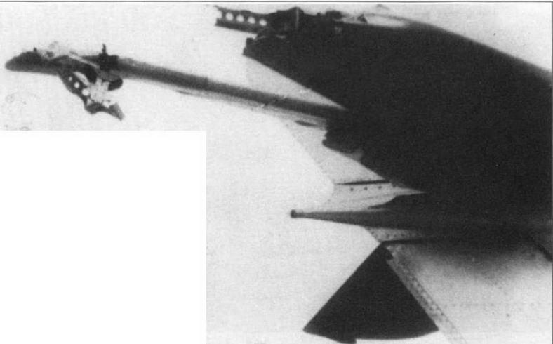 Хвостовое оперение МиГ-15бис № 0715385 капитана Г.И. Геся, поврежденное при взрыве F-51 в бою 20.06.51г.