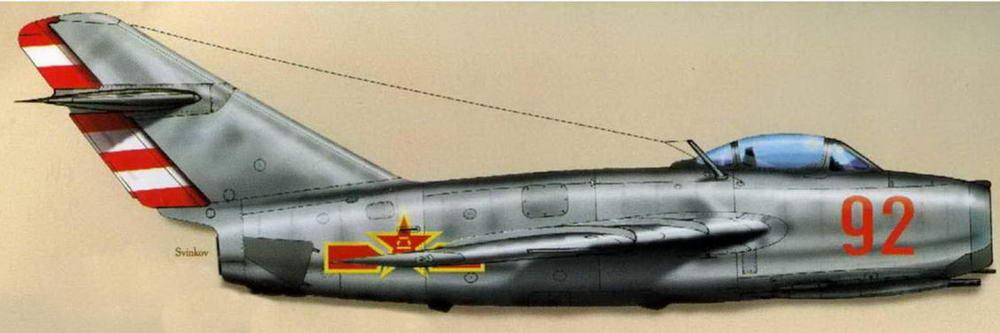 МиГ-15 №0315395, летчик к-н Павлов, командир звена 2 АЭ, 29-й ГвИАП, аэродром Дачан, лето 1 950 г.