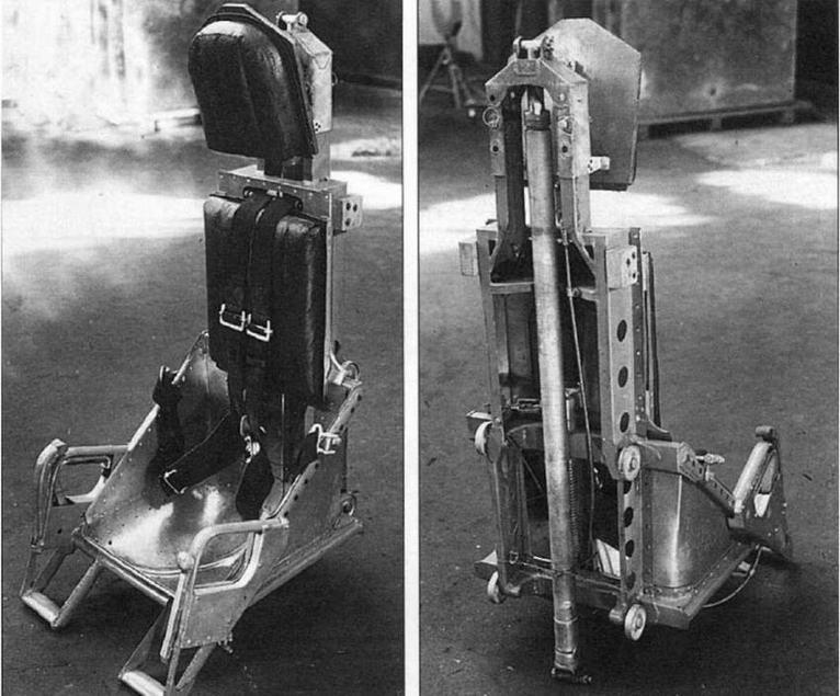 Катапультное кресло для спасения летчика в аварийных ситуациях.