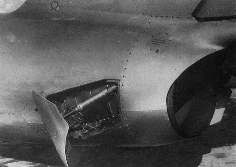 Тормозные щитки площадью 0,8 м<sup>2</sup>, установленные на самолете МиГ-15бис №53210668