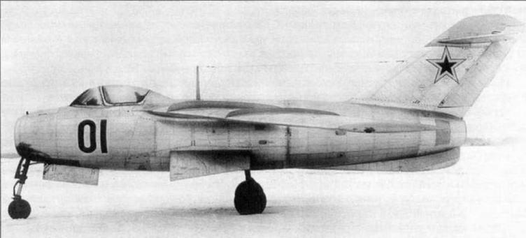 Самолеты Як-23, «168» и Ла-15, которые разрабатывались параллельно с истребителем МиГ-15.