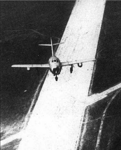 МиГ-15бис №53210408 с 260-литровыми ПТБ на буксире.