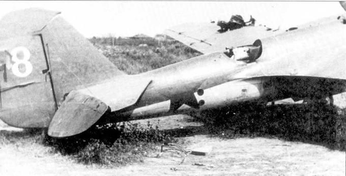 Подбитый СБ после вынужденной посадки у шоссе Можайск-Москва, август 1941г.