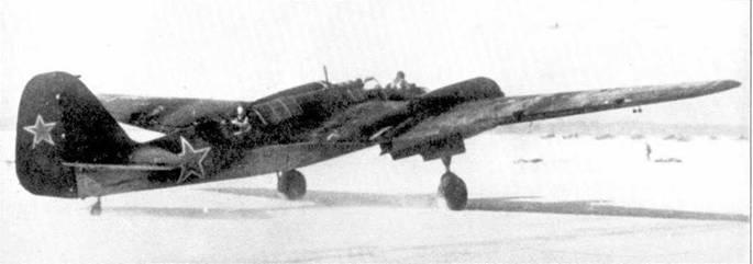 Взлетает СВ-2М-100А, зима 1941/42г.г.