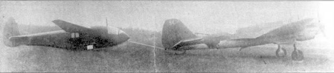 СБ-2 М-103 использовавшийся в качестве буксировщики планера А-7. Планер крепился на жесткой тяге.