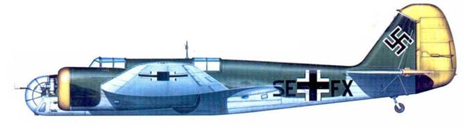 Бывший чехословацкий B.7IB. SE+FX. попавший в состав Luftdienst Kommando. лето 1941 года.