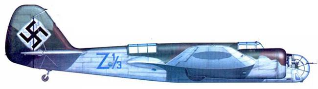 Avia В.71 из 66-го звена II эскадрильи 1-го смешанного полка, лето 1939 года, уже после аннексии Чехии.