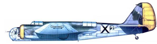 Бывший чехословацкий В.71 из 5-го бомбардировочного полка болгарских ВВС, 1942 год.