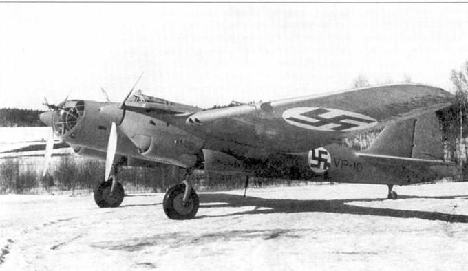 Первый СБ-2, принятый на вооружение финских ВВС весной 1940 года. Это был один из восьми СБ-2, захваченных финнами в ходе зимней кампании. Первоначально самолет обозначался как VP-10, затем VP-1, и почти сразу потом SB-1. Самолет действовал в составе 2/LeLv 6, 1/LeLv 6, 3/LeLv 6, позднее служил в составе 3/PleLv 6, 3/PleLv 6 и PleLv 45.