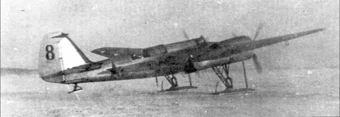 СБ 2М-103 на старте в период советско-финской войны.
