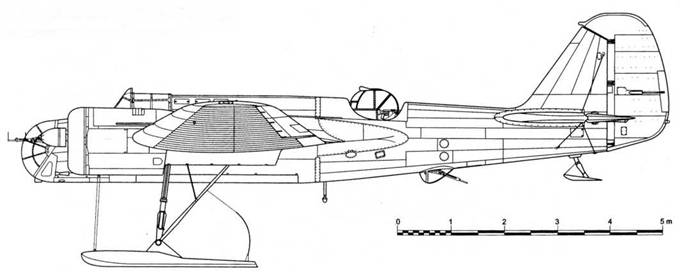 экспериментальный СБ-2М-100А с лыжами и новой турелью
