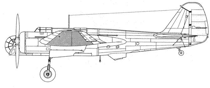Avia В-71 лицензионный СБ-2М-100А использовался немцами для буксировки различных целей