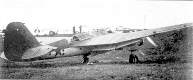 СБ-2М-103 сбитый зенитным огнем в окрестностях Витебска, август 1941г.