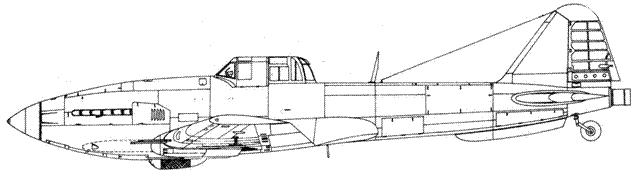 Экспериментальный Ил-10М с ракетным двигателем
