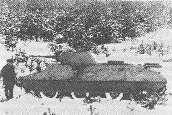 Колёсно-гусеничный танк БТ-СВ-2 «Черепаха»