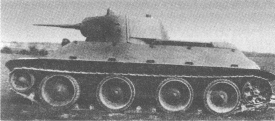 Опытный образец колёсно-гусеничного танка А-20 во время испытаний на НИБТПолигоне в Кубинке 1939 году
