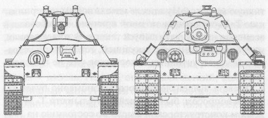 Сравнительные размеры танков А-20 и Т-34