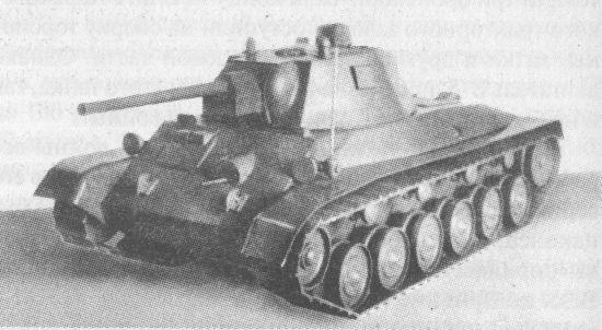 Деревянный макет танка А-43
