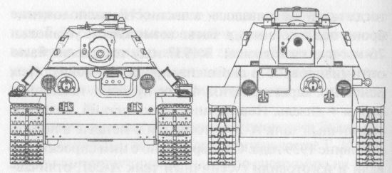 Сравнительные размеры танков Т-34 и Т-34М