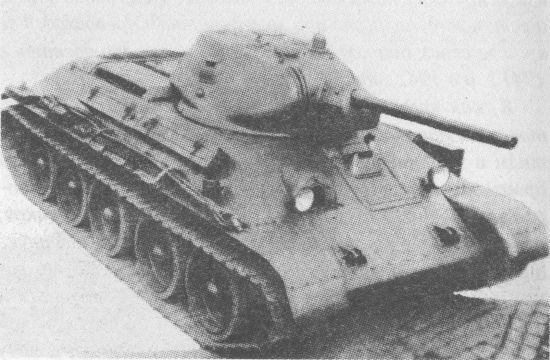 Серийный танк Т-34 с 76-мм пушкой Ф-34 и литой башней. 1941 год