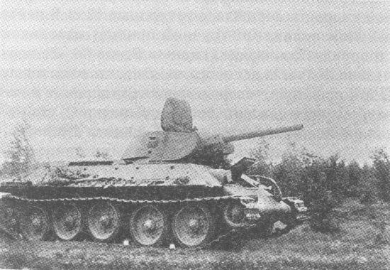 Танк Т-34 выпуска 1941 года. В крышке башенного люка уже отсутствует прибор кругового обзора