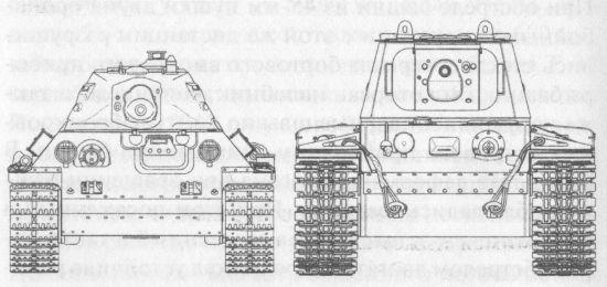 Сравнительные размеры Т-34 и КВ-1