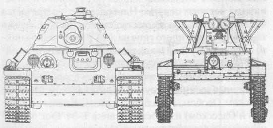 Сравнительные размеры Т-34 и Т-26