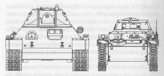 Сравнительные размеры Т-34 и PzIIC
