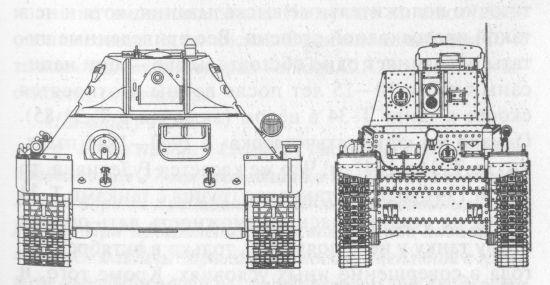 Сравнительные размеры Т-34 и Pz 35(t)