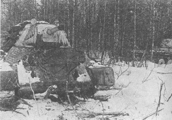 Танки 1-й гвардейской танковой бригады на подступах к Москве 1941 год