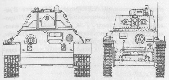 Сравнительные размеры Т-34 и Pz 38(t)