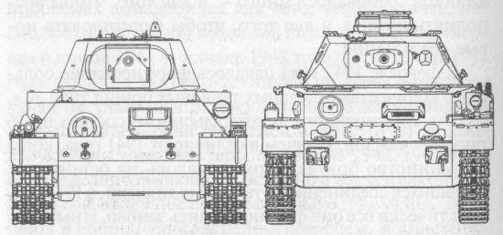 Сравнительные размеры танков Т-34 и Pz IVG