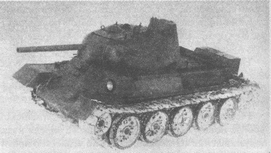 Танк Т-43-1 на испытаниях. Зима 1943 года