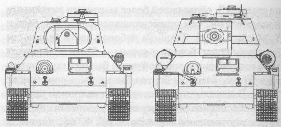 Сравнительные размеры танков Т-34 и Т-34-85