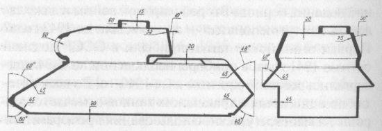 Схема бронирования танка Т-34-85