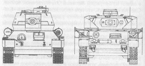 Сравнительные размеры танков Т-34-85 и PzIVH