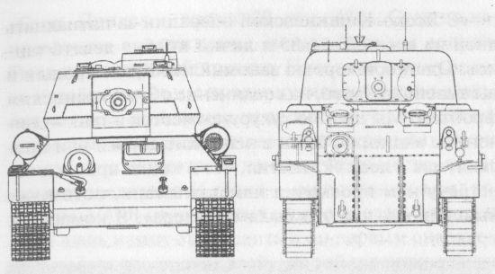 Сравнительные размеры танков Т-34-85 и М4 «Шерман»