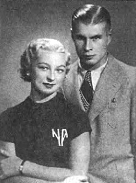 Николай Абрамов с женой Натальей. София, 1934 г.