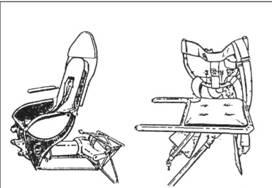 Кресла пилота и штурмана Не 111 Р и Н