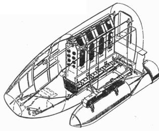 бомбоотсек с четырьмя бомбодержателями ESAC и одним PVC
