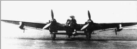 Не 111H-15 с тремя планирующими бомбами BV246.