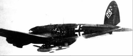He 111H-12 c планирующей бомбой BV143.