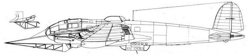 Не 111Н-8 с противоаэростатной системой