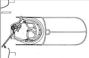 Полуоткрытое размещение пулемета на Не 111Р и Н