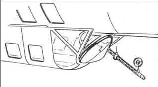 Размещение пулемета MG 15 на самолетах ранних серий.