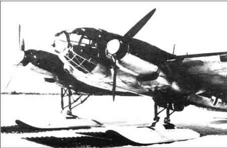 He 111H-3 на котором в Норвегии было испытано лыжное шасси