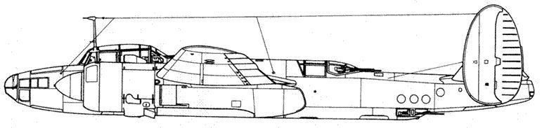 Ту-2Д (объект «62») второй самолет с увеличенным вертикальным оперением, №714