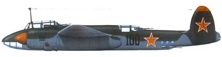 Ту-2 командующего 88-го БАД. 1945 год. Двухцветный камуфляж: зеленый/светло-голубой