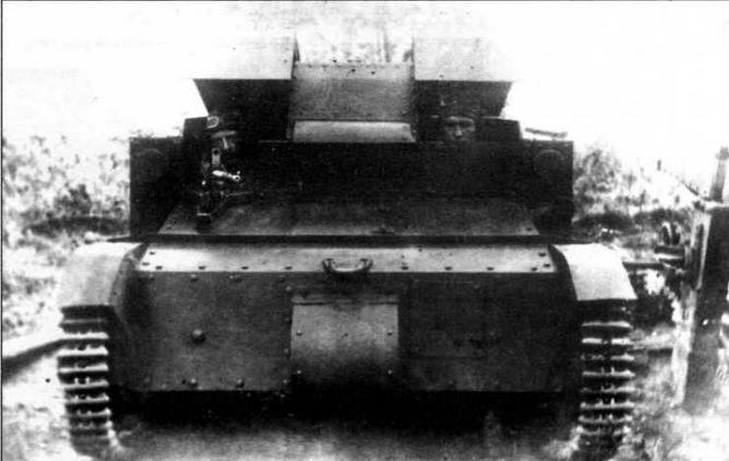 Танкетка Т-27 с установкой пулемета раннего типа
