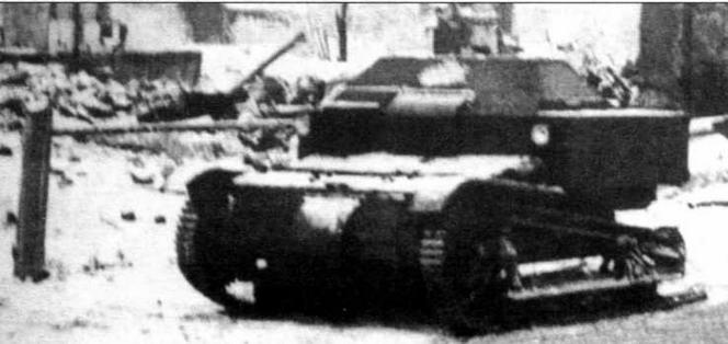 Танкетка Т-27, подорвавшаяся на мине. Советско-финская война, декабрь 1939 г.
